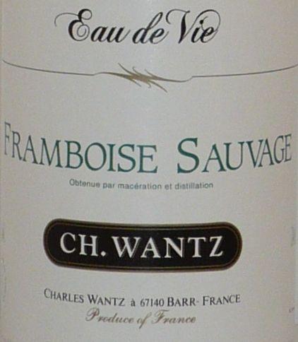 Eau de Vie FRAMBOISE SAUVAGE 45°, 70cl von Charles Wantz