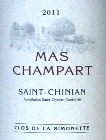 Clos de la Simonette von Mas Champart