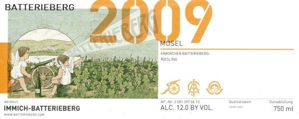 Enkircher Batterieberg Riesling 2009 von Weingut Immich-Batterieberg