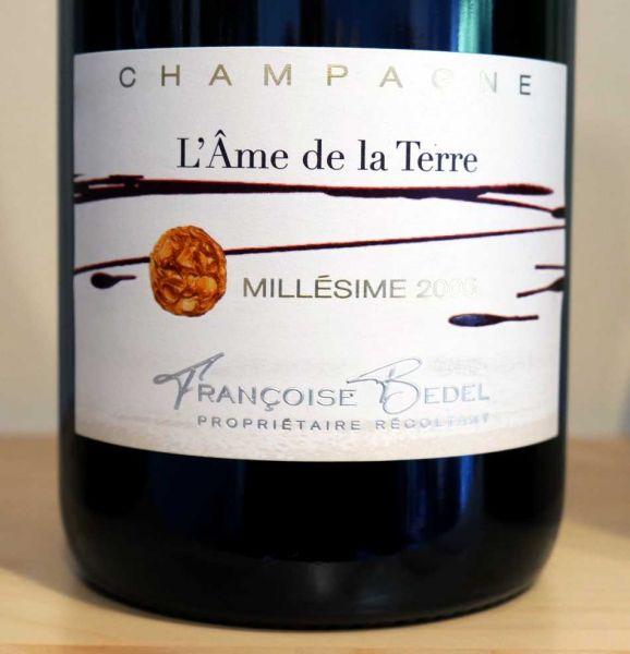 """Champagne """"L'Âme de la Terre"""" 2005 extra brut von Françoise Bedel"""