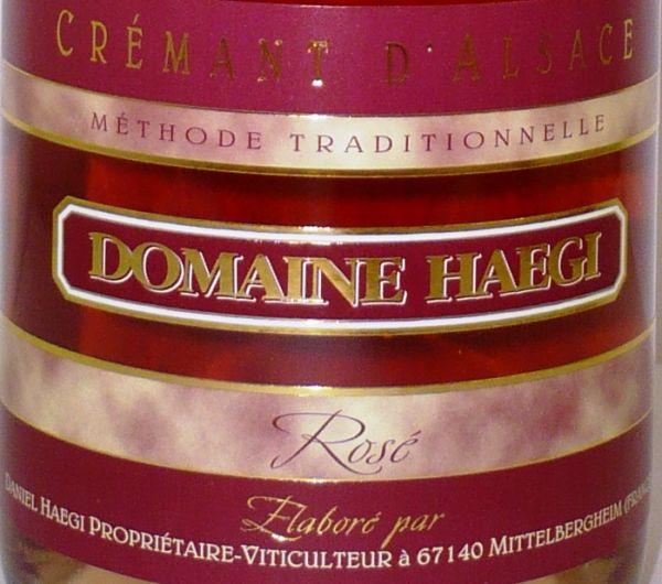 Crémant d'Alsace Brut Rosé von Domaine Haegi