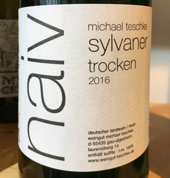 """Sylvaner Naiv 2016 (vormals: """"Natur"""") von Weingut Michael Teschke"""