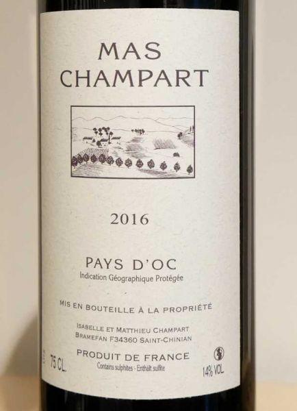 Rouge IGP Pays d'OC von Mas Champart