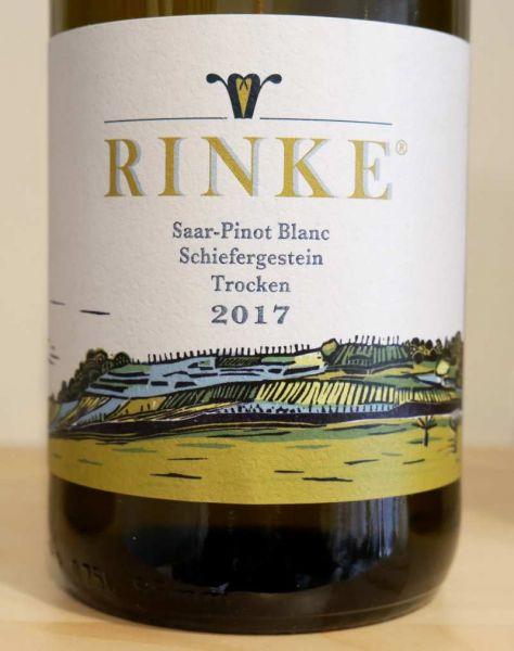 """Saar-Pinot Blanc """"Schiefergestein"""" von Weingut Rinke"""