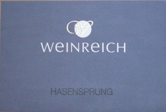 Riesling Hasensprung 2012 von Weingut Weinreich