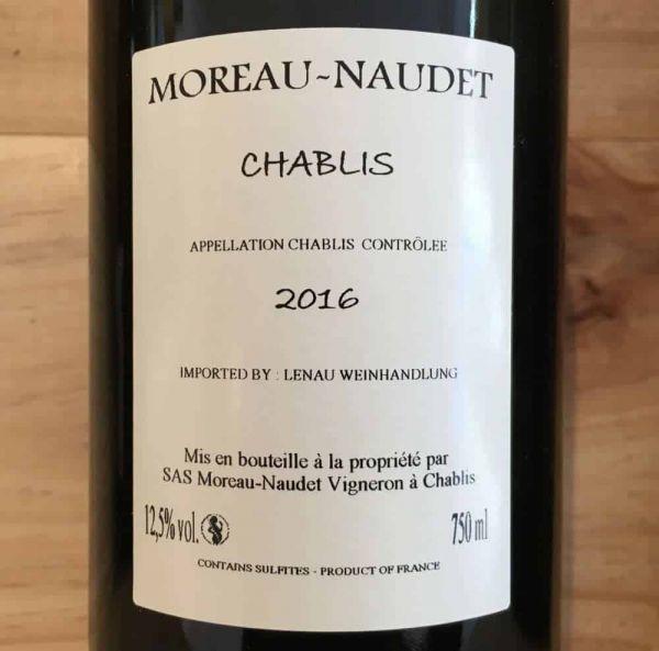 Chablis 2016 von Domaine Moreau-Naudet