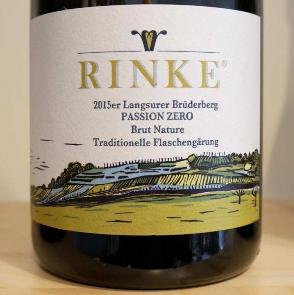 Sekt PASSION ZERO - Langsurer Brüderberg brut nature von Weingut Rinke