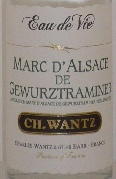 Eau de Vie MARC DE GEWURZTRAMINER 45°, 35 cl von Charles Wantz